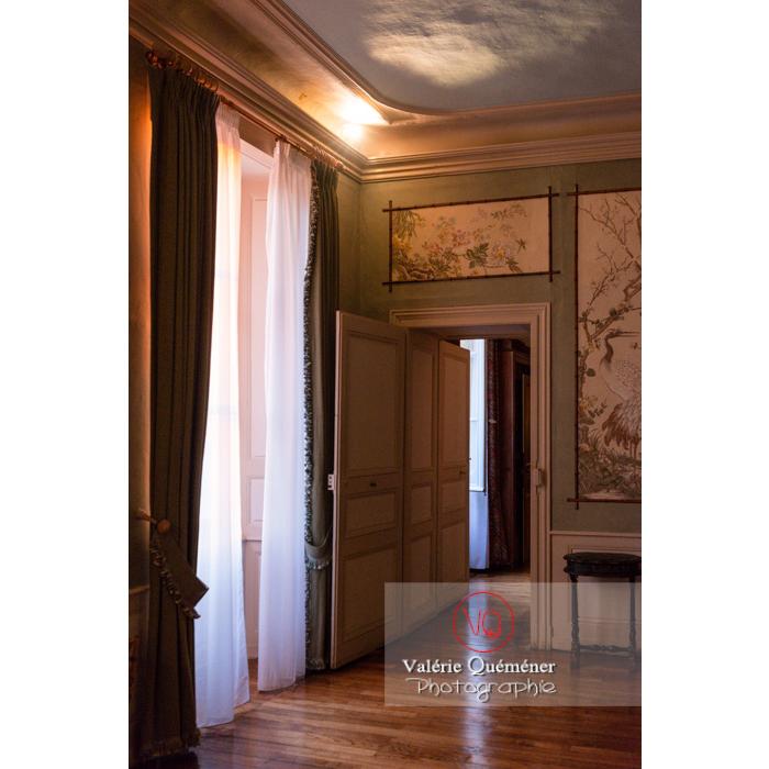 Pièce intérieur maison de George Sand à Nohant-Vic / Indre - Réf : VQFR36-0067 (Q3)
