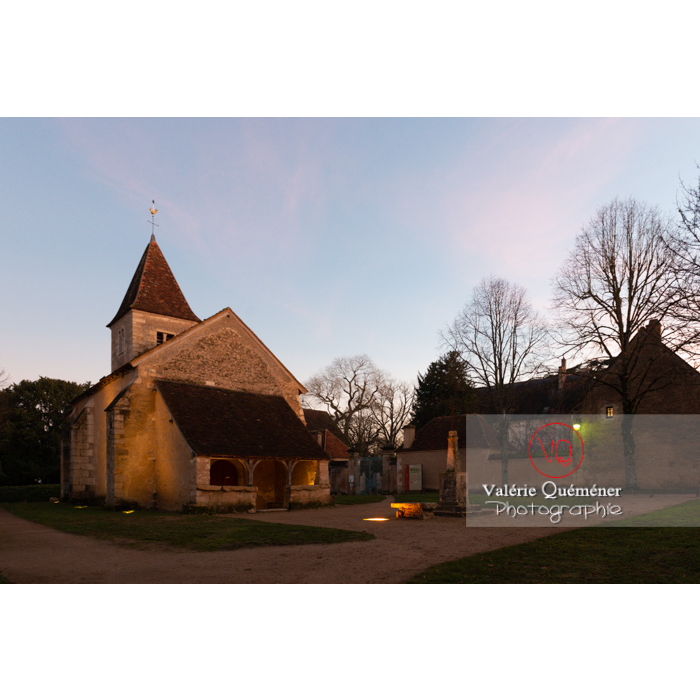 Église Ste-Anne (MH) et son caquetoire, à Nohant-Vic / Indre / Centre-Val de Loire - Réf : VQFR36-0077 (Q3)