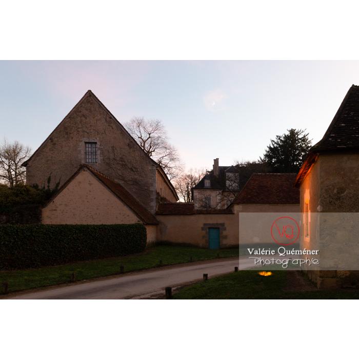 Maison de George Sand le soir à Nohant-Vic / Indre - Réf : VQFR36-0079 (Q3)
