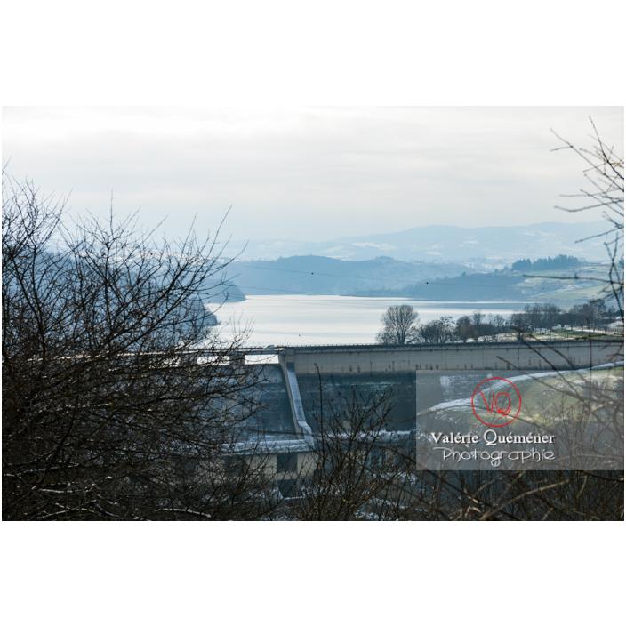 Barrage du lac de Villerest en hiver / Loire / Auvergne-Rhône-Alpes - Réf : VQFR42-0024 (Q3)