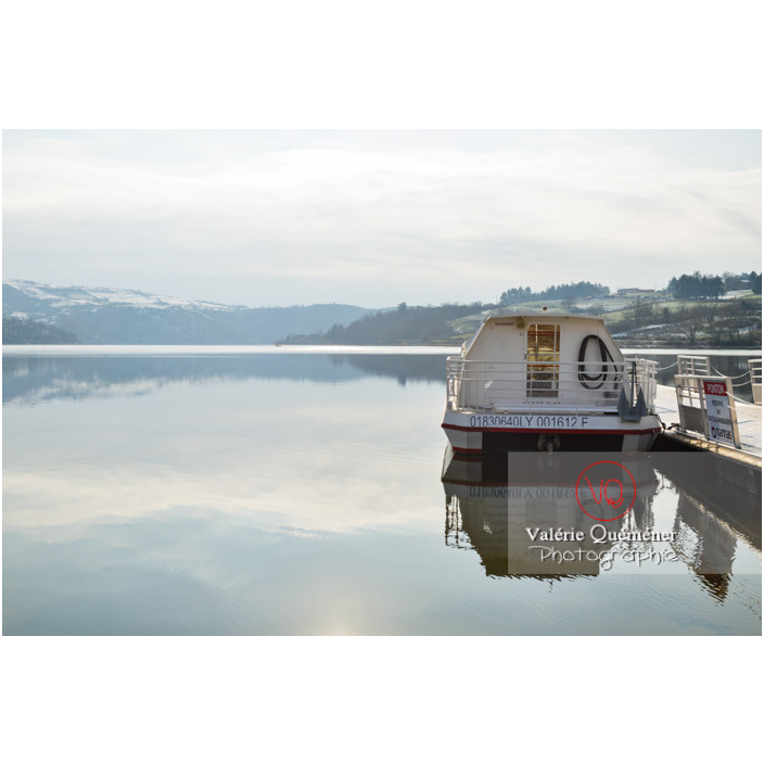 Lac de Villerest en hiver / Loire / Auvergne-Rhône-Alpes - Réf : VQFR42-0033 (Q3)