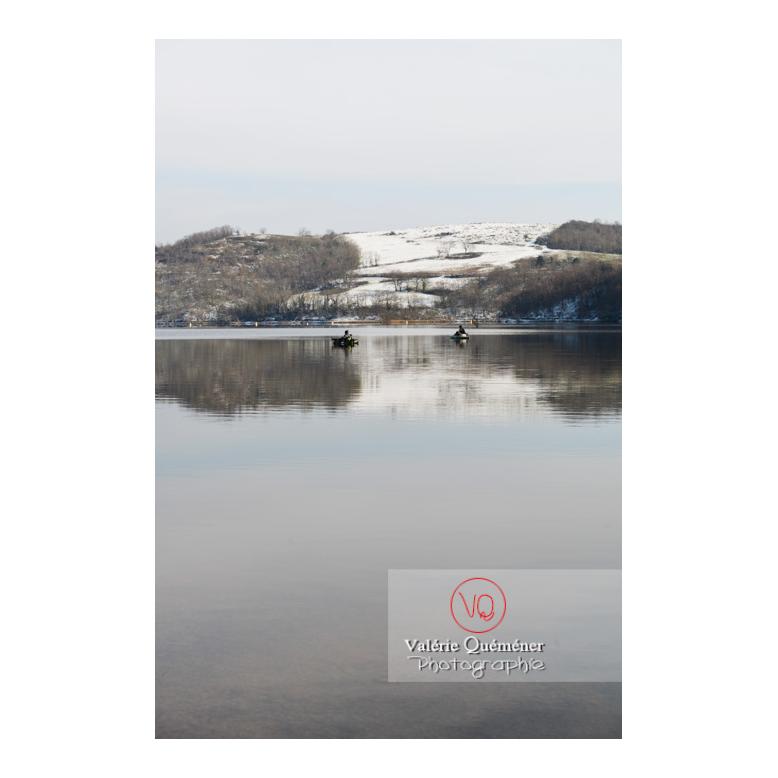 Lac de Villerest en hiver / Loire / Auvergne-Rhône-Alpes - Réf : VQFR42-0034 (Q3)