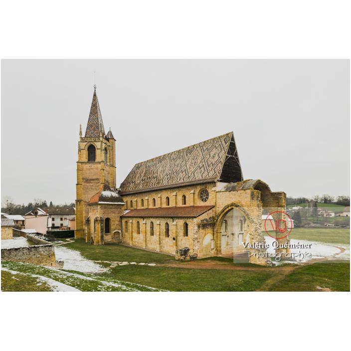 Ancienne église abbatiale (MH) de l'abbaye cistercienne à La Bénisson-Dieu / Loire / Auvergne-Rhône-Alpes - Réf : VQFR42-0116 (Q3)