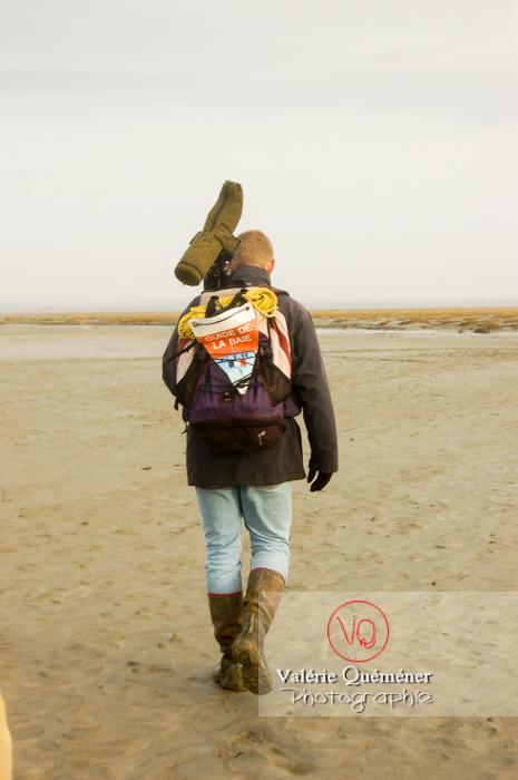 Balade avec guide à marée basse dans la baie du Mont-St-Michel / Normandie - Réf : VQFR50-0010 (Q1)