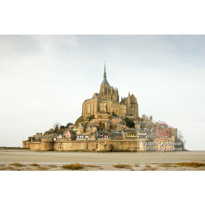 Mont St-Michel et sa baie à marée basse - Réf : VQFR50-0011 (Q1)