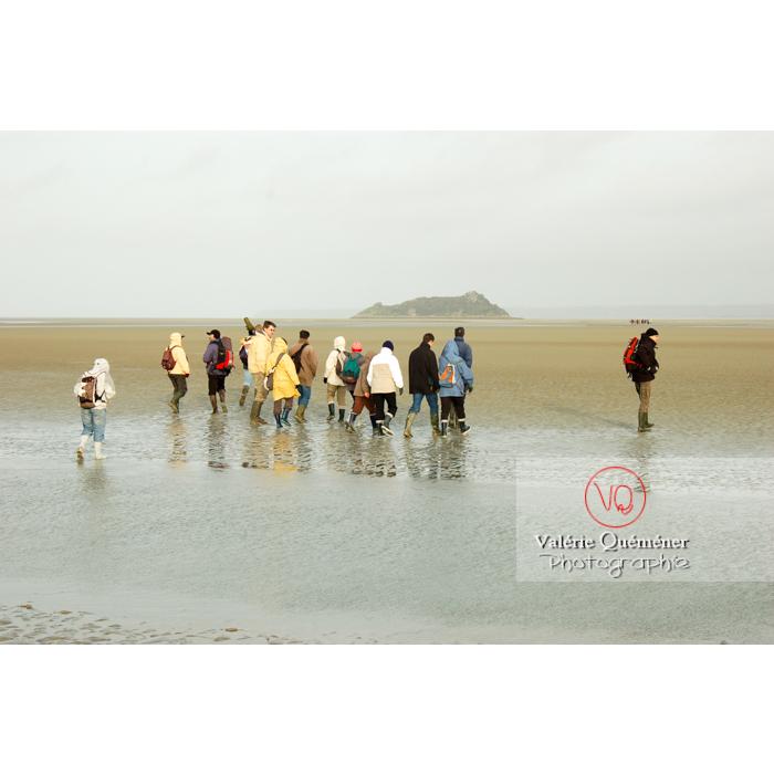 Balade dans la baie du Mont St-Michel à marée basse - Réf : VQFR50-0018 (Q1)