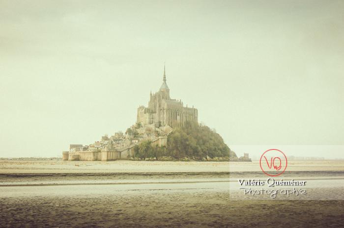 Mont-St-Michel et sa baie à marée basse / Normandie - Réf : VQFR50-0022-TV (Q1)