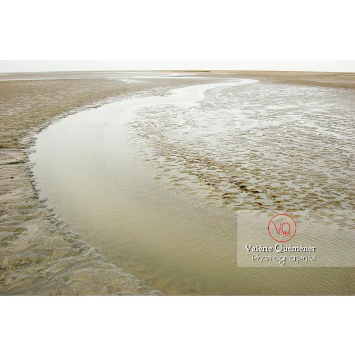 Bras de rivière dans la baie du Mont St-Michel à marée basse - Réf : VQFR50-0027 (Q1)