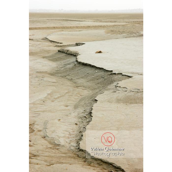 Baie du Mont St-Michel à marée basse / Normandie - Réf :  VQFR50-0028 (Q1)