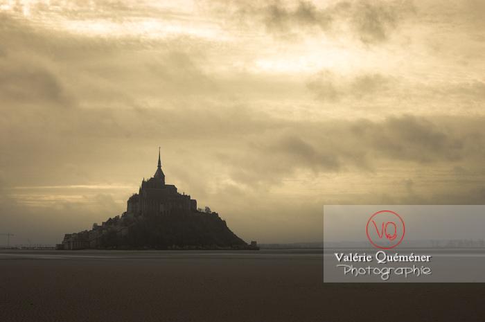Mont-St-Michel et sa baie à marée basse - Réf : VQFR50-0029-TA (Q1)