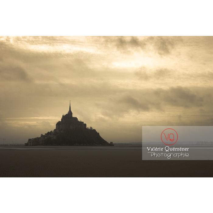 Mont St-Michel et sa baie à marée basse - Réf : VQFR50-0029-TA (Q1)