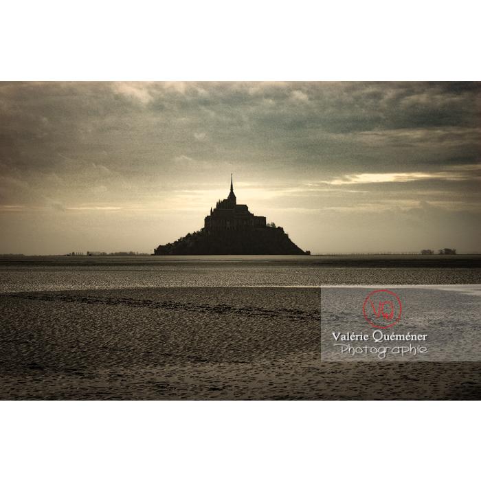 Mont St-Michel et sa baie à marée basse - Réf : VQFR50-0031-TA (Q1)