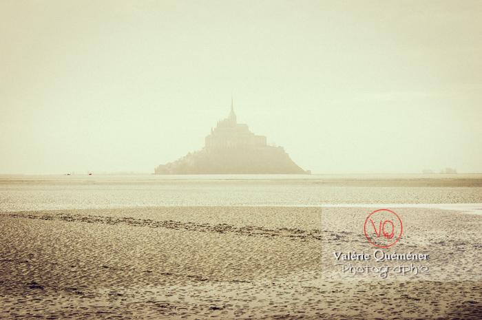 Mont-St-Michel et sa baie à marée basse - Réf : VQFR50-0031-TV (Q1)