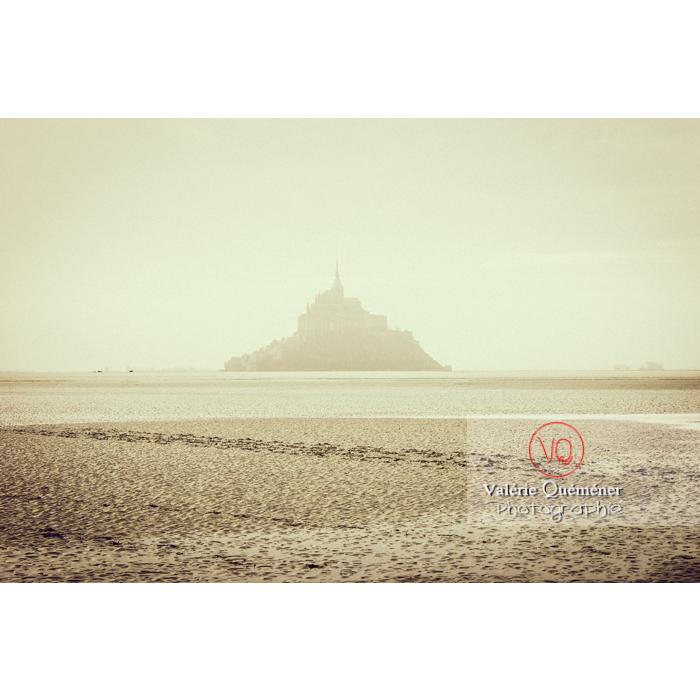 Mont St-Michel et sa baie à marée basse - Réf : VQFR50-0031-TV (Q1)