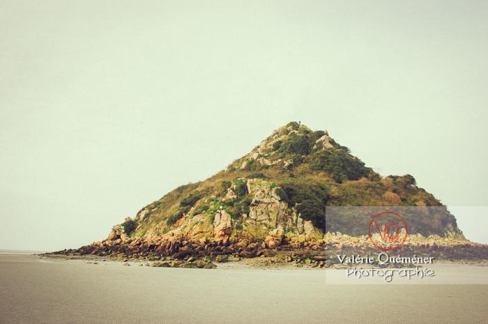 Mont Tombelaine dans la baie du Mont-St-Michel / Normandie - Réf : VQFR50-0035-TV (Q1)