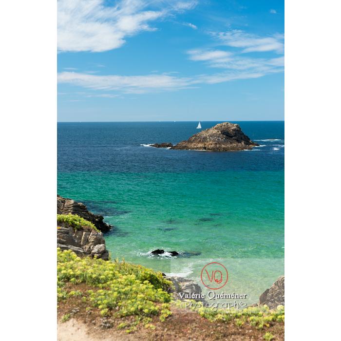 Côte sauvage sur la presqu'île de Quiberon / Morbihan / Bretagne / France - Réf : VQFR56-0522 (Q3)
