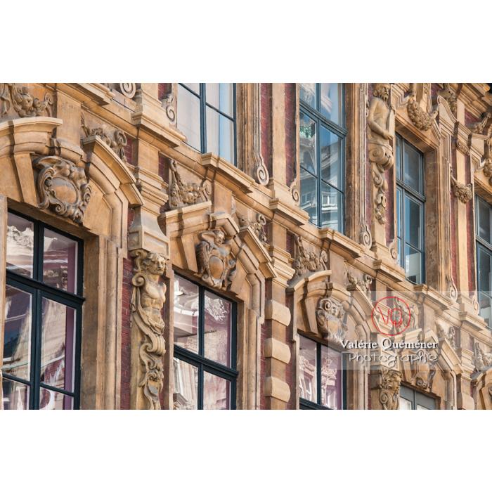 Détails façade de la vieille bourse de Lille / Nord / Hauts-de-France - Réf : VQFR59-0006 (Q2)