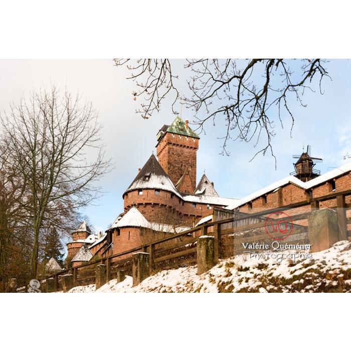 Château du Haut-Koenigsbourg (MH) sous-la-neige / Orschwiller / Bas-Rhin / Grand-Est - Réf : VQFR67-0031 (Q3)