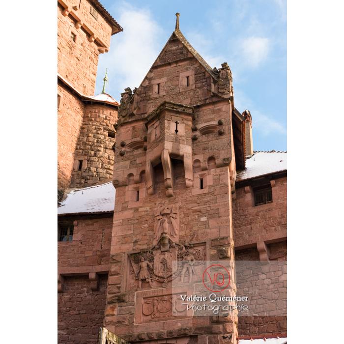 Portail d'entrée du château du Haut-Koenigsbourg (MH) / Orschwiller / Bas-Rhin / Grand-Est - Réf : VQFR67-0042