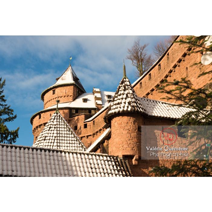 Grand bastion du château du Haut-Koenigsbourg (MH) sous la neige / Orschwiller / Bas-Rhin / Grand-Est - Réf : VQFR67-0044 (Q3)