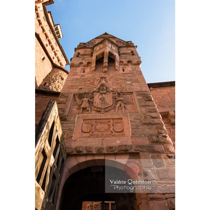 Portail d'entrée du château du Haut-Koenigsbourg (MH) / Orschwiller / Bas-Rhin / Grand-Est - Réf : VQFR67-0045 (Q3)