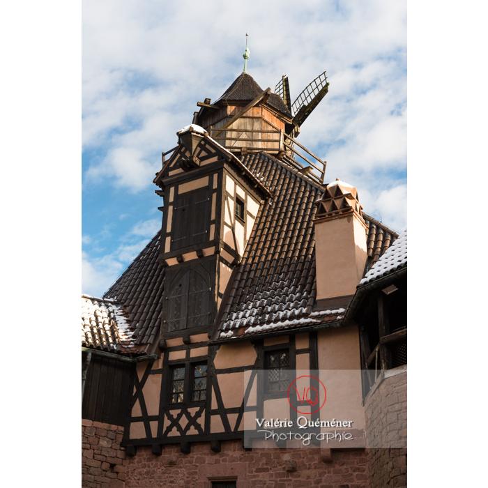 Moulin à vent du château du Haut-Koenigsbourg (MH) / Orschwiller / Bas-Rhin / Grand-Est - Réf : VQFR67-0053 (Q3)
