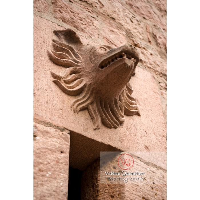 Bas-relief à tête d'animal au château du Haut-Koenigsbourg (MH) / Orschwiller / Bas-Rhin / Grand-Est - Réf : VQFR67-0054 (Q3)