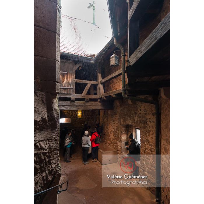 Passage fortifié vers la cour intérieure du château du Haut-Koenigsbourg (MH) / Orschwiller / Bas-Rhin / Grand-Est - Réf : VQFR67-0065 (Q3)