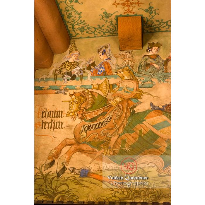 Peinture au mur de la salle du kaiser au château du Haut-Koenigsbourg (MH) / Orschwiller / Bas-Rhin / Grand-Est - Réf : VQFR67-0109 (Q3)