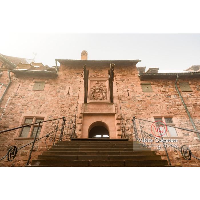 Fortification depuis le jardin supérieur du château du Haut-Koenigsbourg (MH) / Orschwiller / Bas-Rhin / Grand-Est - Réf : VQFR67-0154 (Q3)