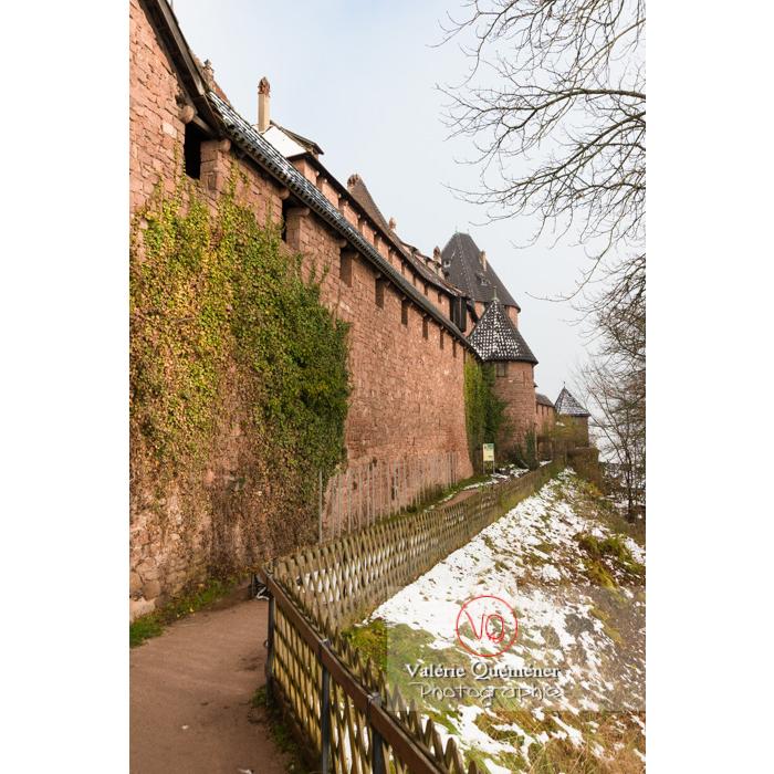 Enceinte extérieure du château du Haut-Koenigsbourg (MH) / Orschwiller / Bas-Rhin / Grand-Est - Réf : VQFR67-0204 (Q3)