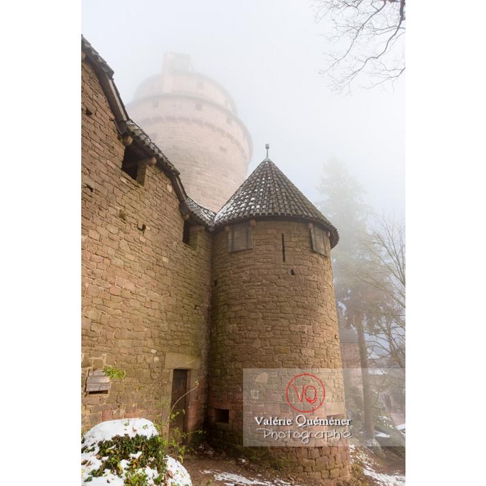Tour des fortifications ouest du château du Haut-Koenigsbourg (MH) / Orschwiller / Bas-Rhin / Grand-Est - Réf : VQFR67-0210 (Q3)