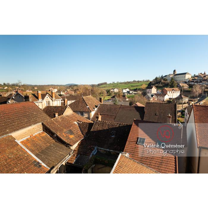 Panorama depuis Charolles / Saône-et-Loire / Bourgogne-Franche-Comté - Réf : VQFR71-0273 (Q3)