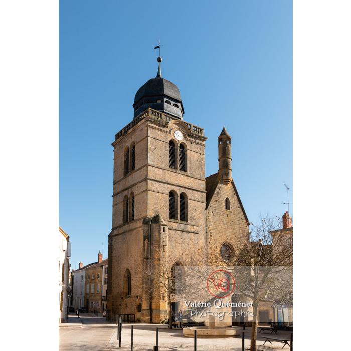 Tour Saint-Nicolas, ancienne église du XVIème de style gothique, à Paray-le-Monial / Saône-et-Loire / Bourgogne-Franche-Comté - Réf : VQFR71-0317 (Q3)