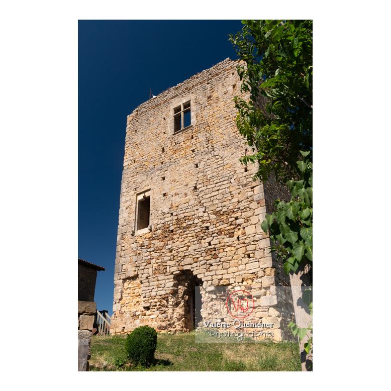 Grande tour du château Saint-Hugues à Semur-en-Brionnais / Saône-et-Loire / Bourgogne-Franche-Comté - Réf : VQFR71-2686 (Q3)