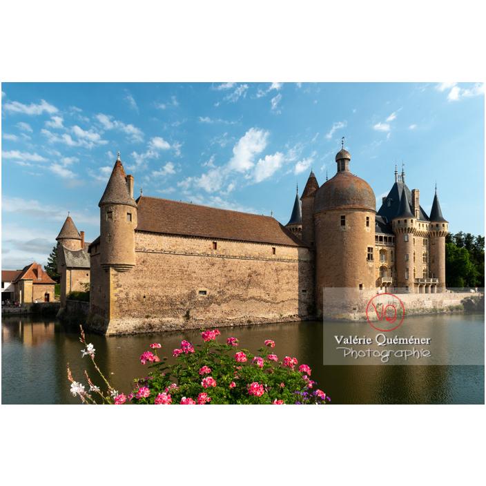 Douve au pied du château de La Clayette (MH) sur la commune de La Clayette / Saône-et-Loire / Bourgogne-Franche-Comté - Réf :VQFR71-2707 (Q3)