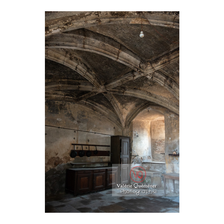 Cuisine médiévale du château de La Clayette (MH) / La Clayette / Saône-et-Loire / Bourgogne-Franche-Comté - Réf : VQFR71-2730 (Q3)