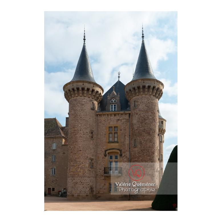 Tours du logis du château de La Clayette (MH) / La Clayette / Saône-et-Loire / Bourgogne-Franche-Comté - Réf : VQFR71-2736 (Q3)