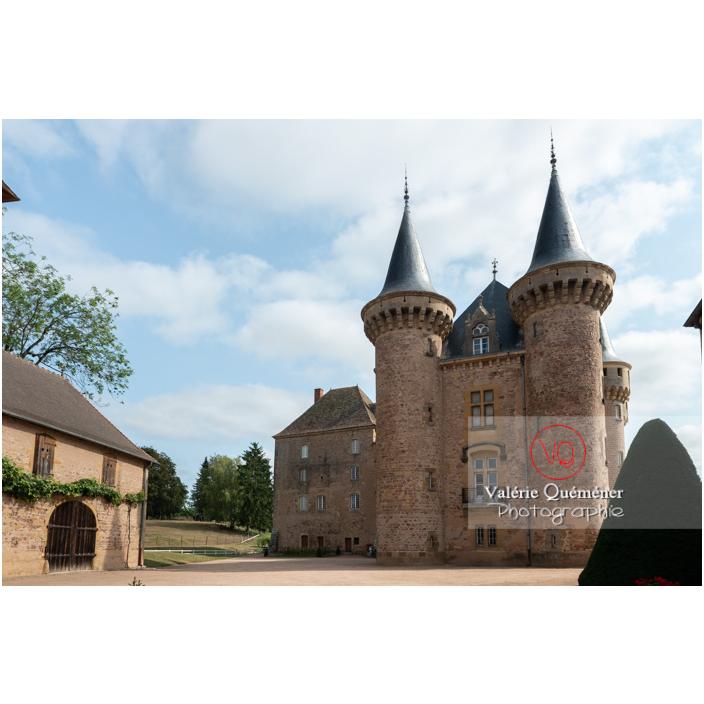 Tours du logis du château de La Clayette (MH) / La Clayette / Saône-et-Loire / Bourgogne-Franche-Comté - Réf : VQFR71-2737 (Q3)