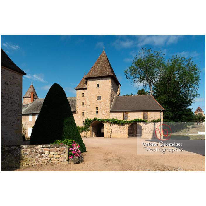 Tour carrée des dépendances nord du château de La Clayette (MH) / La Clayette / Saône-et-Loire / Bourgogne-Franche-Comté - Réf : VQFR71-2747 (Q3)