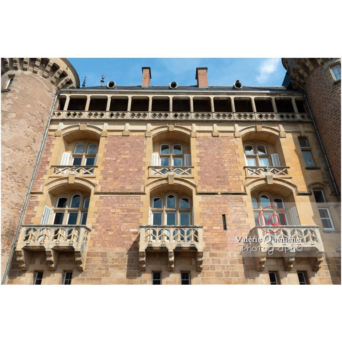 Façade du château de La Clayette (MH) / La Clayette / Saône-et-Loire / Bourgogne-Franche-Comté - Réf : VQFR71-2748 (Q3)