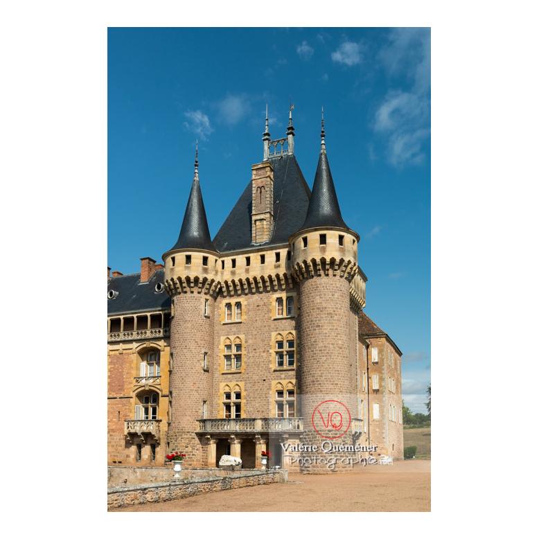 Tour carrée du logis du château de La Clayette (MH) / La Clayette / Saône-et-Loire / Bourgogne-Franche-Comté - Réf : VQFR71-2752 (Q3)