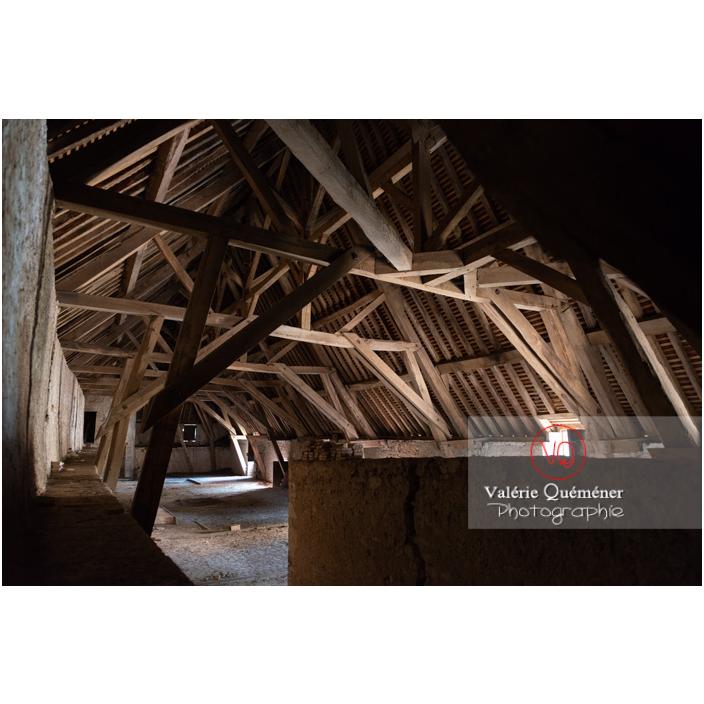 Charpente des communs au château de La Clayette (MH) / La Clayette / Saône-et-Loire / Bourgogne-Franche-Comté - Réf : VQFR71-2756 (Q3)