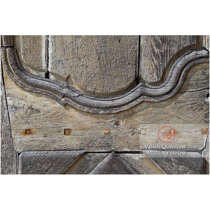 Détail de la porte de l'orangerie du château de La Clayette (MH) / La Clayette / Saône-et-Loire / Bourgogne-Franche-Comté - Réf : VQFR71-2775 (Q3)