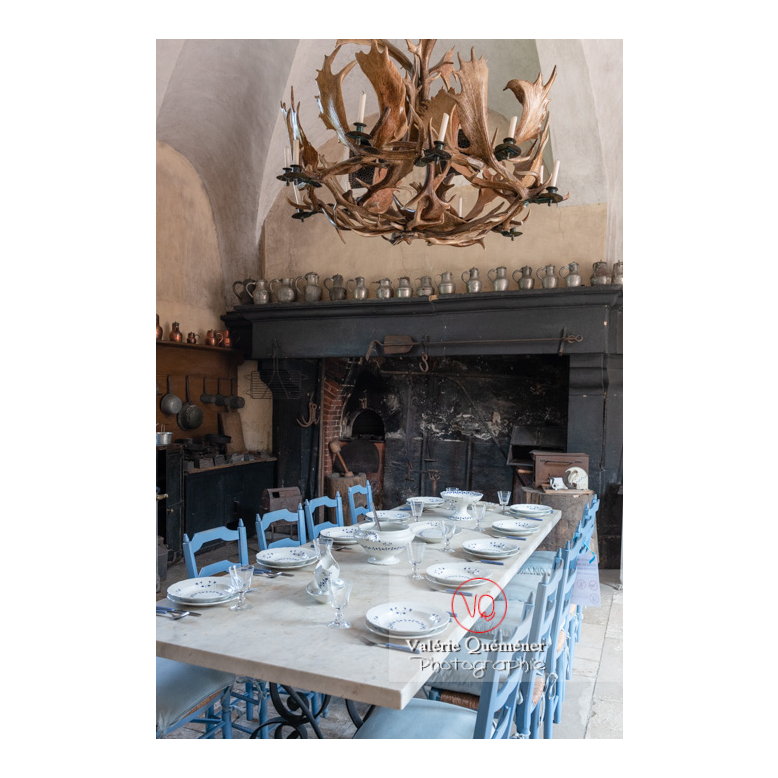 Cuisine du château de Drée (MH) à Curbigny / Saône-et-Loire / Bourgogne-Franche-Comté - Réf : VQFR71-2809 (Q3)