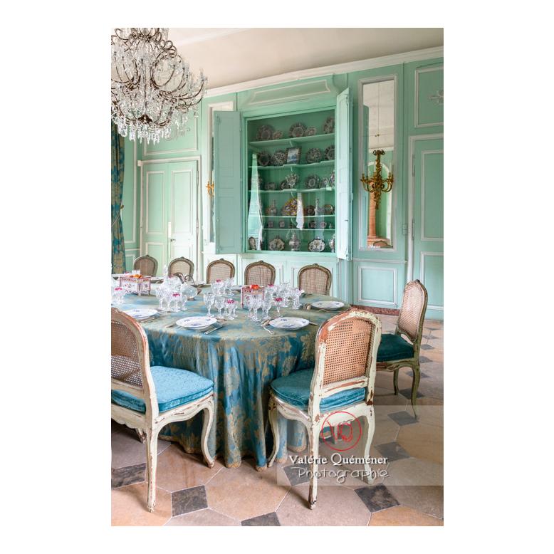 Salle à manger du château de Drée (MH) à Curbigny / Saône-et-Loire / Bourgogne-Franche-Comté - Réf : VQFR71-2819 (Q3)