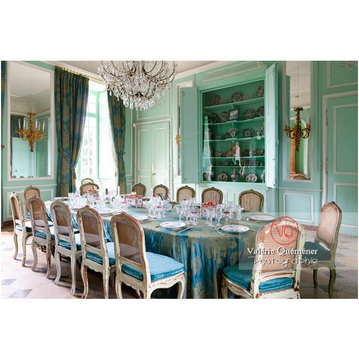 Salle à manger du château de Drée (MH) à Curbigny / Saône-et-Loire / Bourgogne-Franche-Comté - Réf : VQFR71-2820 (Q3)
