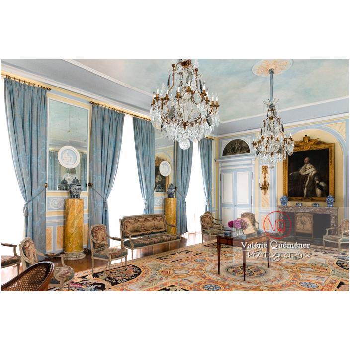 Salon Louis XVI au château de Drée (MH) à Curbigny / Saône-et-Loire / Bourgogne-Franche-Comté - Réf : VQFR71-2827 (Q3)