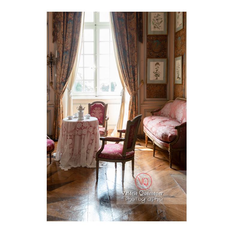 Chambre du château de Drée (MH) à Curbigny / Saône-et-Loire / Bourgogne-Franche-Comté - Réf : VQFR71-2838 (Q3)