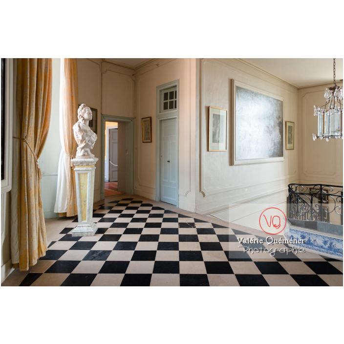 Hall à l'étage du château de Drée (MH) à Curbigny / Saône-et-Loire / Bourgogne-Franche-Comté - Réf : VQFR71-2840 (Q3)